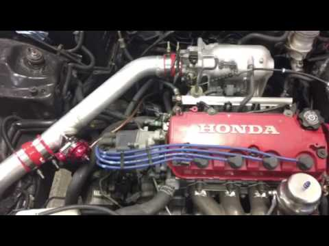 Boosted bone stock D16Y8 making 205hp/176tq on 7psi tuned by Eddie of  Genesis Automotive