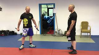 Exercise with Knife & Stick threats and attacks with Heath Leavitt & Amnon Darsa. Expert Camp, IKMN