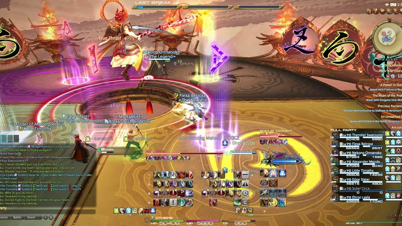 FFXIV: Stormblood Suzaku EX clear - Dragoon (DRG) POV