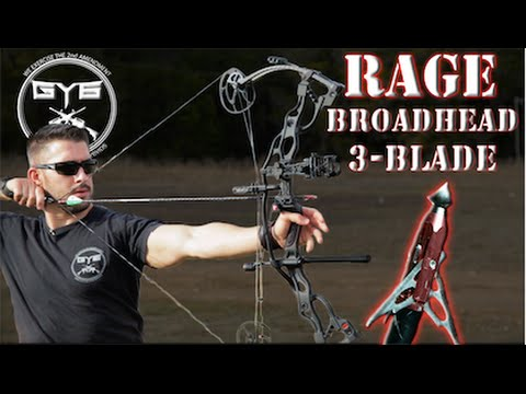 Compound Bow Broadhead -vs- MEAT & BONE -- RAGE Chisel Tip 3-Blade [GY6 Ballistic Test #26]