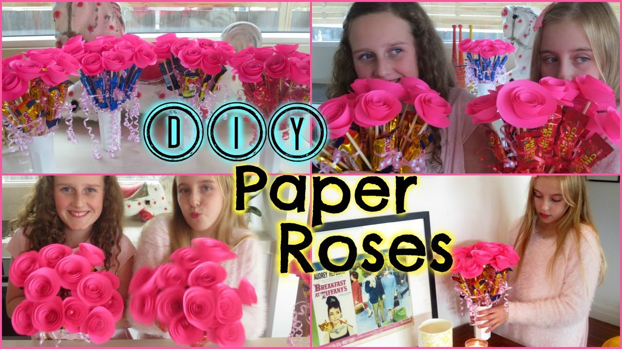 Diy Easy Paper Roses Mothers Day Birthday Gift Or
