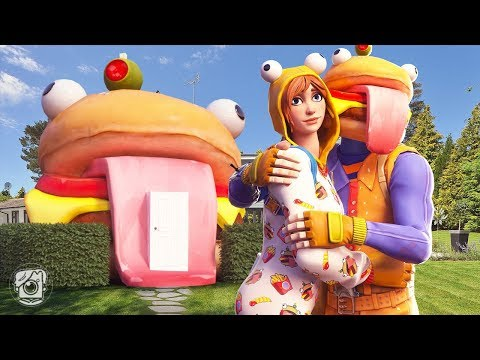 ONESIE AND DURR BURGER BUY THEIR FIRST HOUSE! - A Fortnite Short FIlm