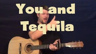 You and Tequila (Kenny Chesney) Easy Strum Guitar Lesson How to Play Tutorial