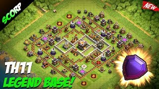TH11 Trophy Base | Best CoC TH11 Anti 2 Star Base 2017 | Legend League Replays - Clash Of Clans0