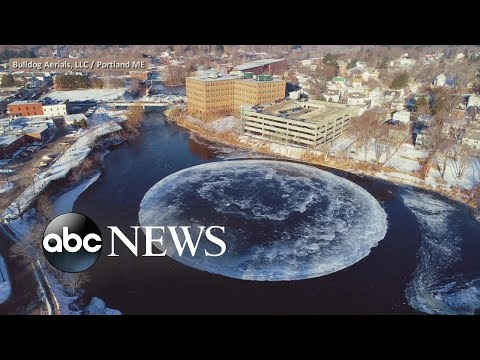 The KiddChris Show - VIDEO: Maine's Mystery Ice Disk Causes Sensation