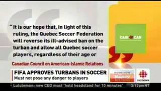 CAIR.CAN Welcomes FIFA Ruling on Accommodation of Sikh Turban -  CBC News