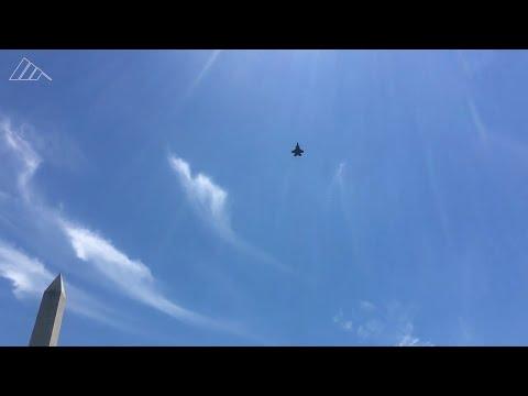 F-35 Fighter Jet From Beaufort Flies Over White House For Polish President's Visit