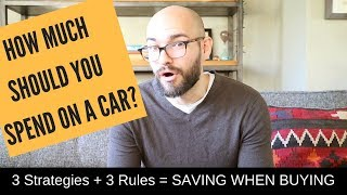 How much should you spend on a car? Smart spending = Smart SAVINGS!