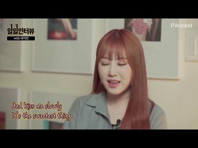 Jimin Park (박지민) randomly singing part 2