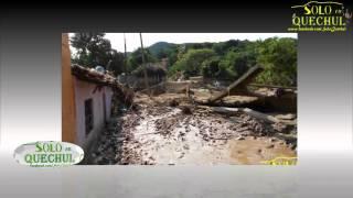 Daños causados por el huracán Ingrid y Manuel en Quechultenango el 15 de Septiembre 2013