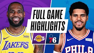<b>LAKERS</b> at 76ERS | FULL GAME HIGHLIGHTS | January 27, 2021 ...