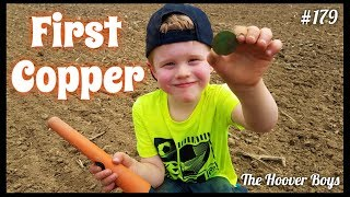 Proud Daddy Moment! 5 Year Old Finds His First Big Old Copper Coin Metal Detecting