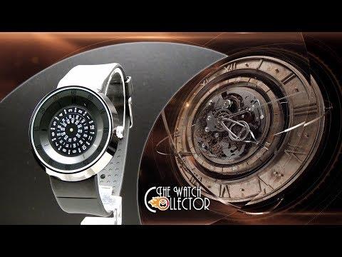 Fucda Rotating Discs Black Metal Watch | The Watch Collector