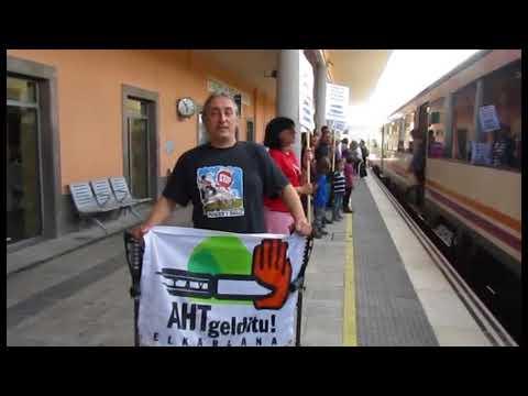 Protesta en Tudela para evitar la desaparición de paradas del tren