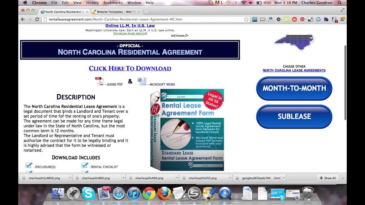 North Carolina Residential Lease Agreement