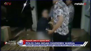 Diduga Berbuat Mesum dengan Bidan, Oknum Polisi Diarak Warga di Pasuruan - BIM 27/08