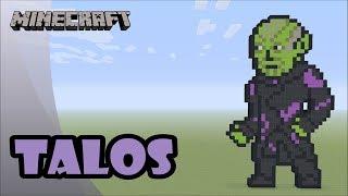 Minecraft: Pixel Art Tutorial: Talos (Captain Marvel)