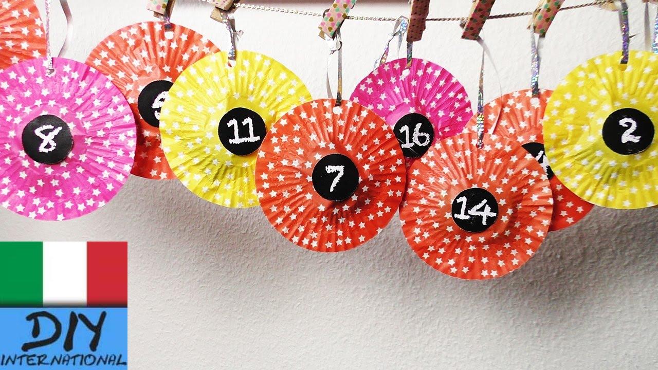 Come Fare Calendario Avvento.Fai Da Te Calendario Dell Avvento Fatto Con Carta Per Muffin Come Fare Un Semplicssimo Calendario