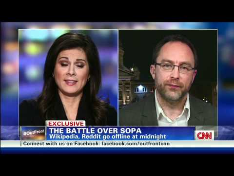 Erin Burnett Discusses SOPA with Wikipedia Co-Founder Jimmy Wales on CNN 1/17/2012