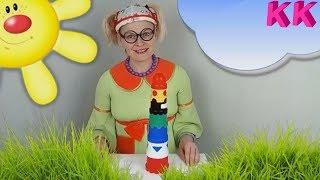 Учим цвета и цифры с разноцветной пирамидой 🌈 Веселые уроки с Клавой 🌈 Развивающее видео для детей