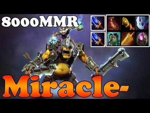 Dota 2 - Miracle- 8000MMR Plays Alchemist - Full Game - Rank