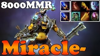 Dota 2 - Miracle- 8000MMR Plays Alchemist - Full Game - Ranked Match Gameplay