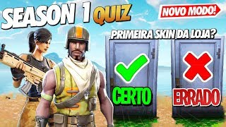 SEASON 1 QUIZ AT FORTNITE