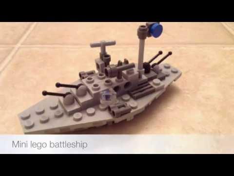 How To Make A Lego Mini Battleship Youtube