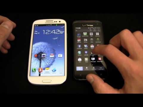 Samsung Galaxy S III vs. HTC DROID Incredible 4G LTE Dogfight Part 1