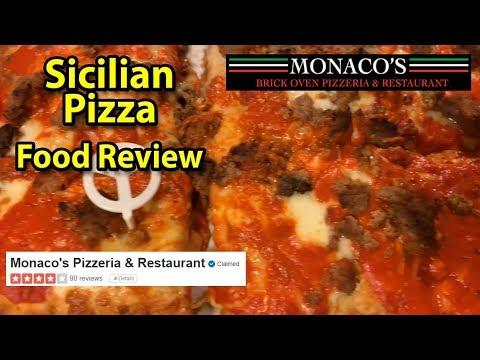 Monaco's Pizzeria & Restaurant | Sicilian Meatball & Calzone | Taste Test & Review | JKMCraveTV