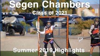 Segen Chambers (Class of 2021) 2019 Summer Lacrosse Highlights Video