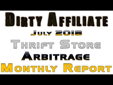July 2018 Thrift Store Arbitrage What Sold on eBay Report Di