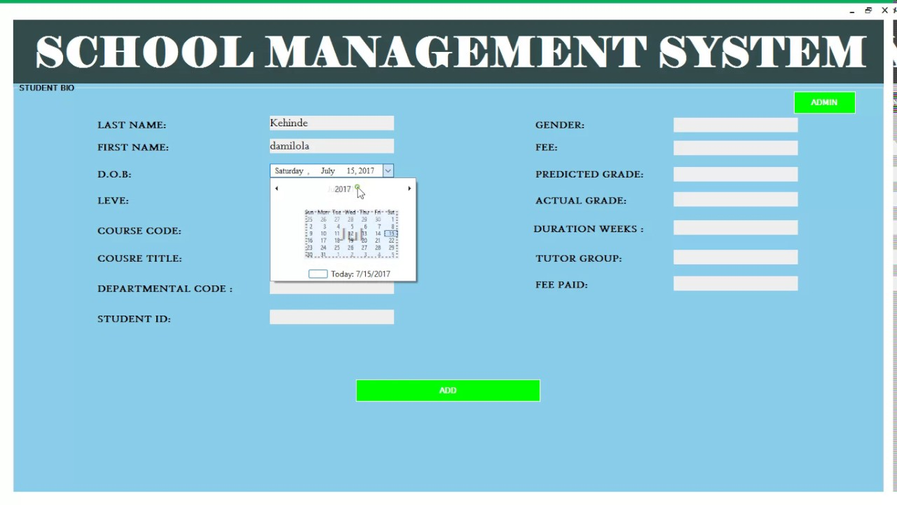 School Management System  (VB net) - YouTube