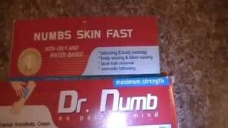 Dr. Numb Review by Jorblan Romero of Florida - Painless Tattoo Numbing Cream