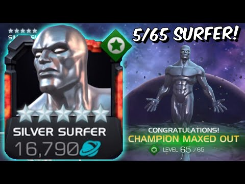 Maxing Out Silver Surfer! - Rank 5/65 Act 6 Silver Beast Gameplay - Marvel Contest Of Champions