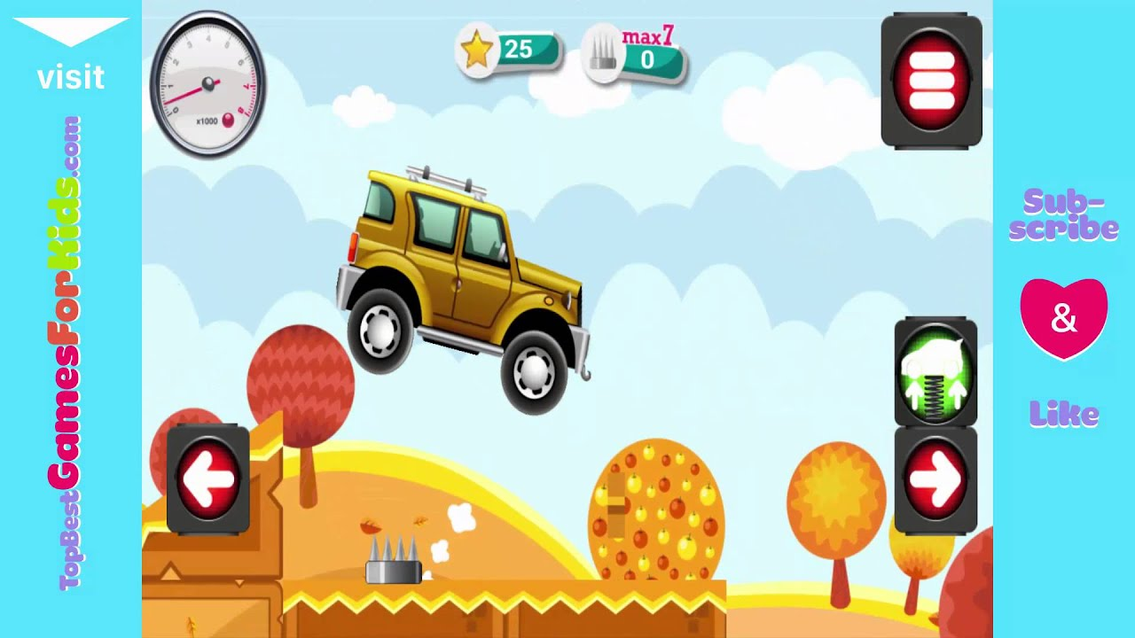 Games for Kids - Yellow JEEP - Animated puzzles cars - YouTube