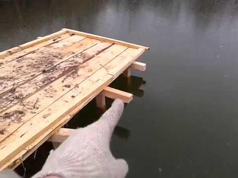 Простая Мостушка своими руками на дачном пруду.