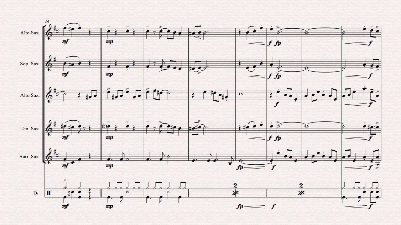 White Christmas - Bossa Nova - Saxophone Quartet by hitfactory2009