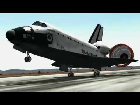 Space Shuttle Atlantis landing in 3D
