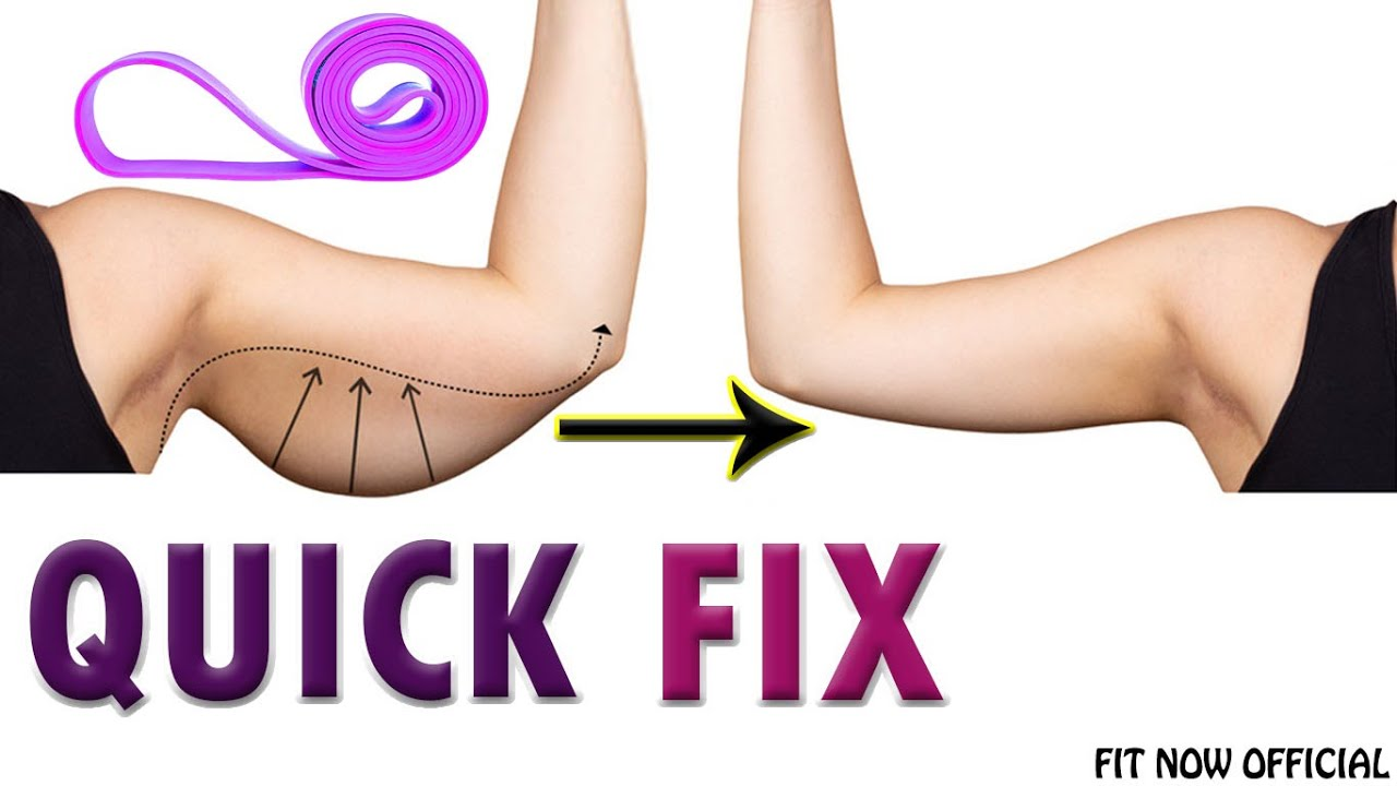 Arm Fat Easy Flabby Arms Workout With Resistance Band For Women