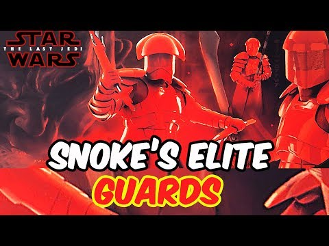 A Better Look At Snoke's Elite Praetorian Guards & More! [STAR WARS]