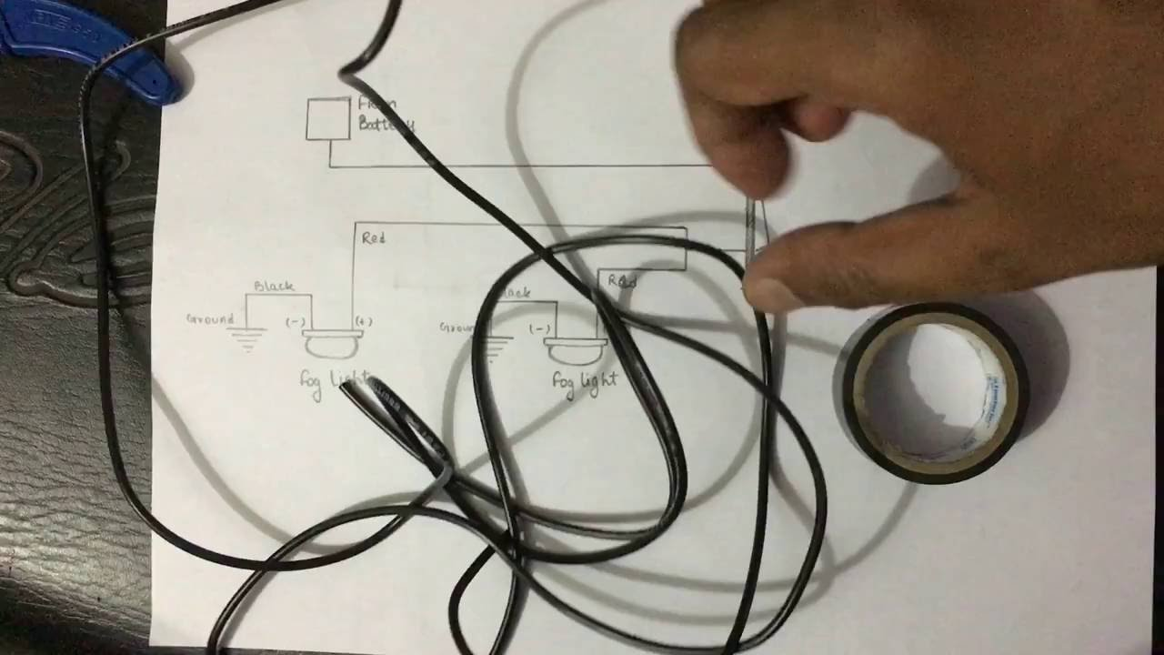 Installation Of U5 Cree Aux Lights On Cbr 250r Any Other Bike Driving Fog Light Wiring Diagram