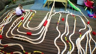 Outside Adventures With Huge Kids Train Sets - Toy Train Track 19