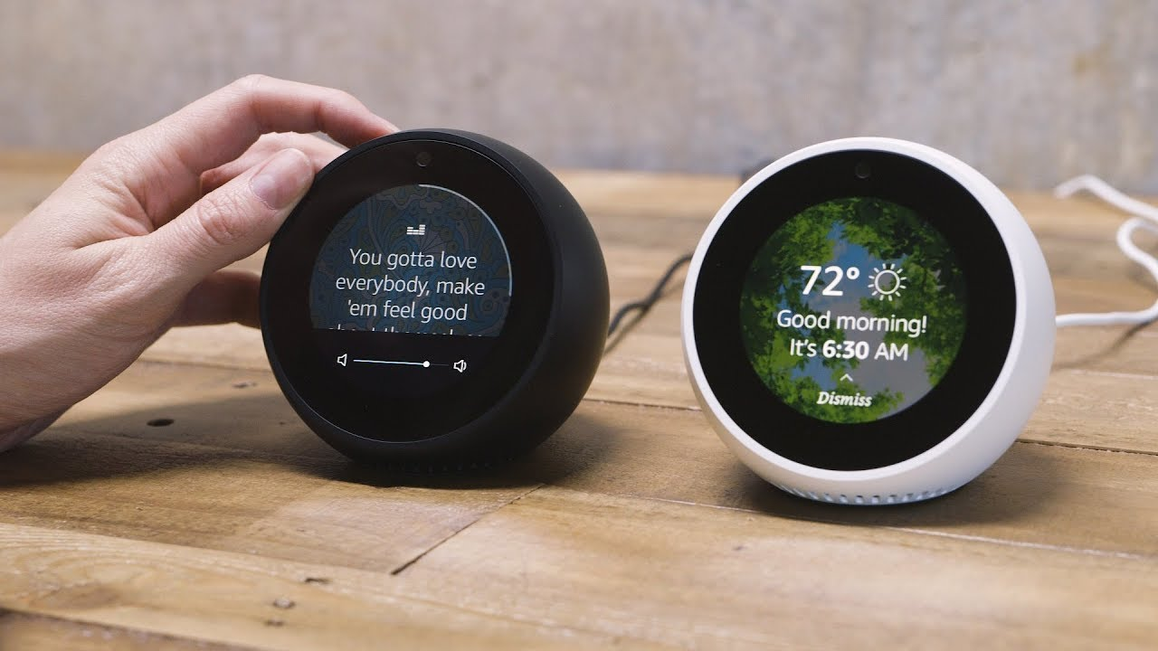 amazon echo spot first look youtube. Black Bedroom Furniture Sets. Home Design Ideas