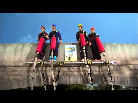 "Austin & Ally - ""Magazines & Made-Up Stuff"" Bungee Jump Clip"