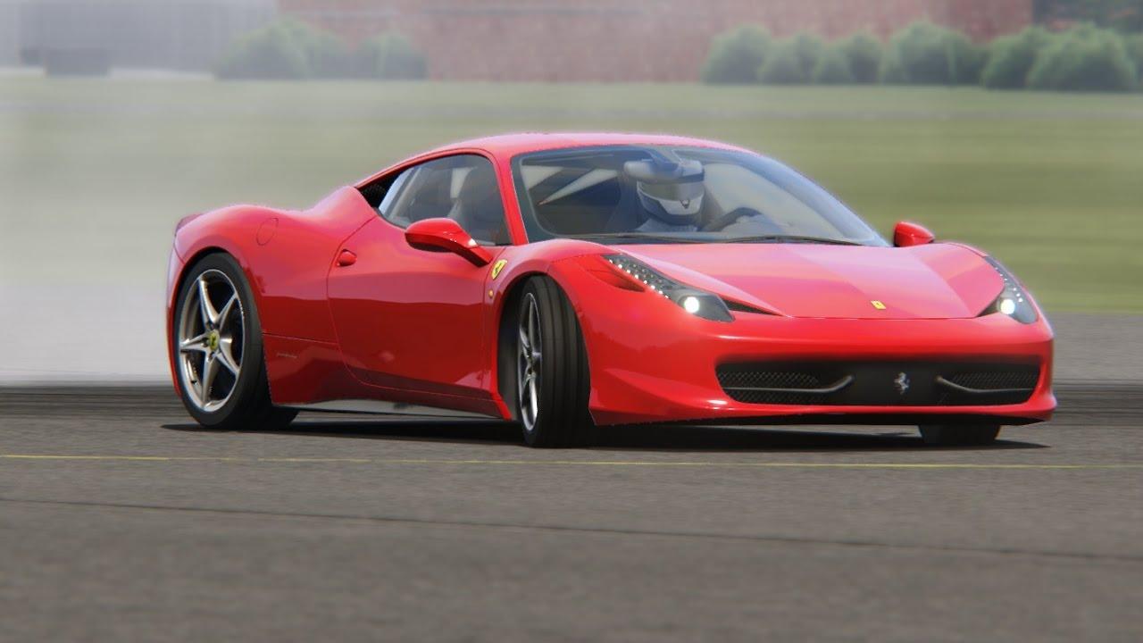 ferrari 458 italia top gear testing - youtube