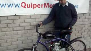 Bicimoto 4T,48cc pruebas y desarollo QuiperMotor