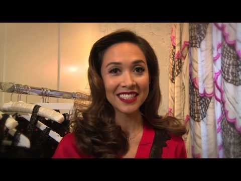 Myleene Klass models her lingerie range for Littlewoods.com