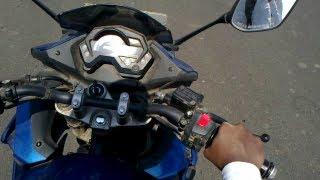 Yamaha Fazer riding through under construction highway at Bhopal, Madhya Pradesh .