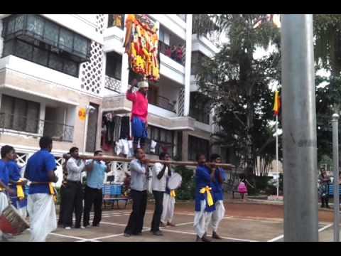 Pooja Kunitha Dance @ White House Apartments, R T Nagar, Bangalore Celebrating Karnataka Rajyotsava